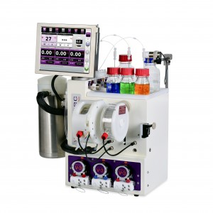 E-Series flow chemistry system with cooled reactor