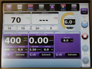 Active BPR user interface - Vapourtec E-series