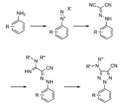 hazardous diazonium intermediates, dissolved ammonia and a novel catalytic copper oxidative cyclisation