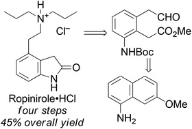 The development of a short route to the API ropinirole hydrochloride