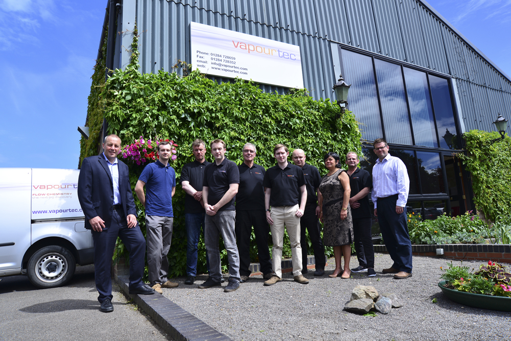 Vapourtec Ltd team at premises near Cambridge UK