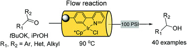 A monolith immobilised iridium Cp* catalyst for hydrogen transfer reactions under flow conditions