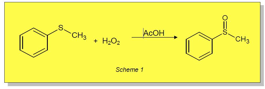 Application Note 45 – Selective oxidation using 50% aqueous