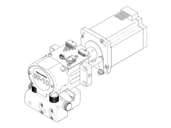 SF-10 vapourtec reagent pump technical line diagram