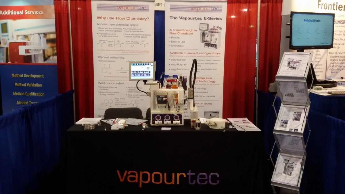 American chemical society 2016 event vapourtec flow chemistry