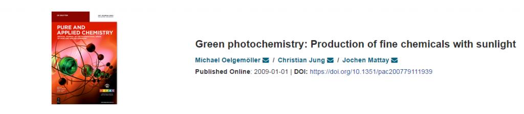 Green Photochemistry-solar-chemistry-M-Oelgemoller