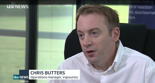 Chris Butters Operations manager Vapourtec Ltd